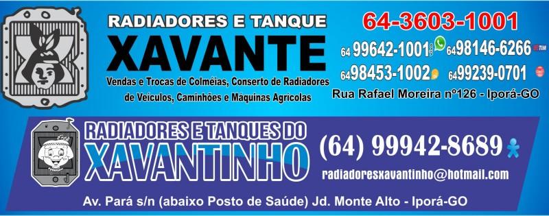 RADIADORES E TANQUES XAVANTE