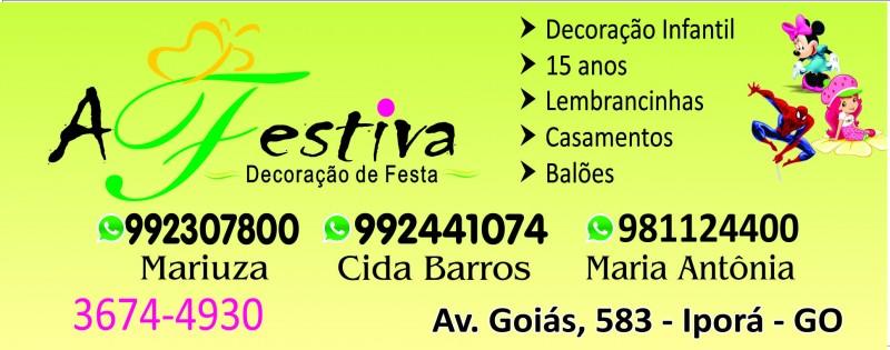 A FESTIVA DECORAÇÃO DE FESTAS