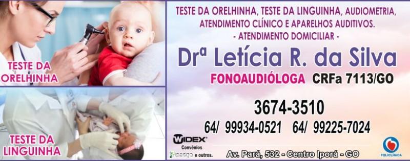 HOSPITAL - FONOAUDIÓLOGA - DRª LETÍCIA