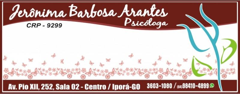 PSICÓLOGA - DRª JERÔNIMA B. ARANTES