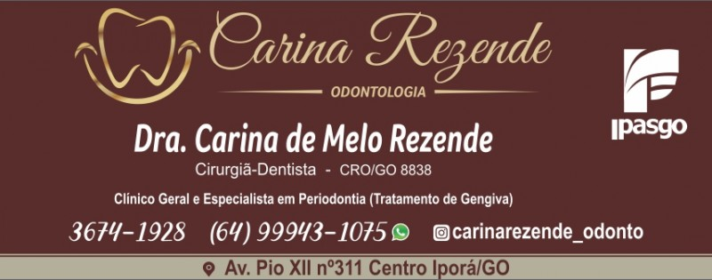 CARINA DE MELO REZENDE - ODONTÓLOGA