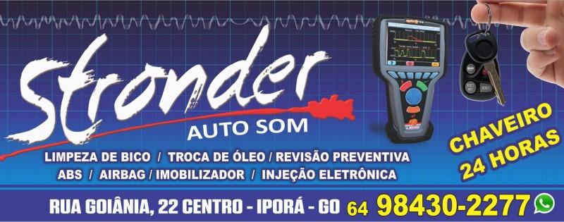 STRONDER AUTO SOM E CHAVEIRO