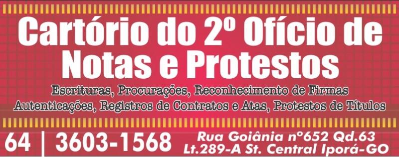 CARTÓRIO 2º OFÍCIO DE NOTAS E PROTESTO