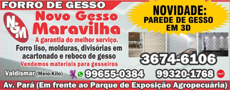 FORRO DE GESSO - GESSO MARAVILHA