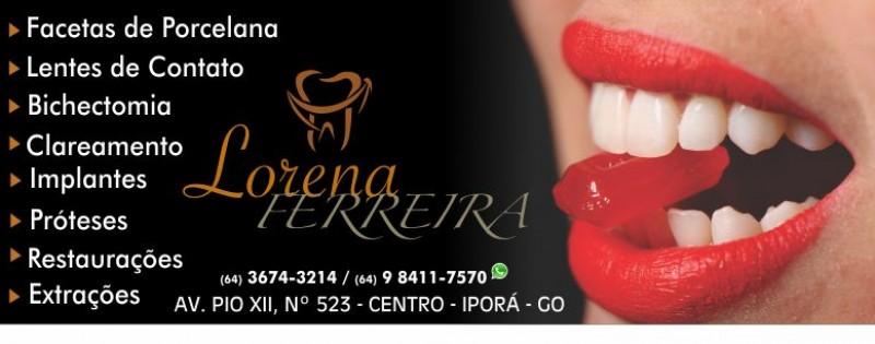 DENTISTA - DRª LORENA FERREIRA