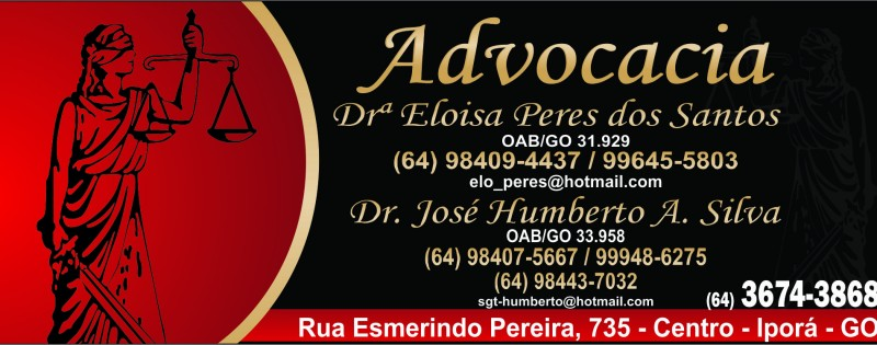 ADVOCACIA - DRª ELOISA PERES E DR. JOSÉ HUMBERT
