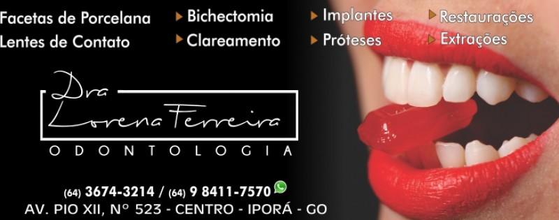 ODONTOLOGIA - DRª LORENA FERREIRA